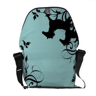 Black Wild Horses Messenger Bag