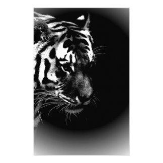 Black & Wild Tiger Head Stationery Paper