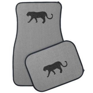 Black Wildcat Gray Car Floor Mats Car Mat