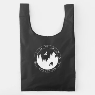 Black Wildwoods Logo BAGGU® Reusable Bag