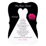Black Will You Be My Bridesmaid Invitations