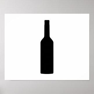 Black wine bottle poster