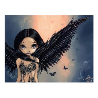 """Black Winged Angel"" Postcard"