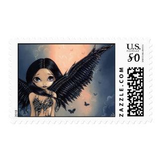 """Black Winged Angel"" Stamp"
