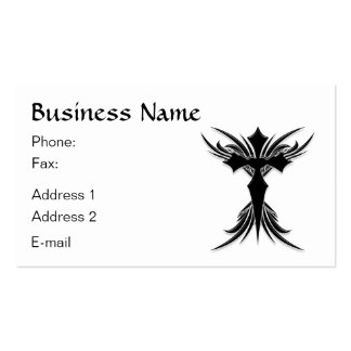 Black Winged Cross Business Card Template