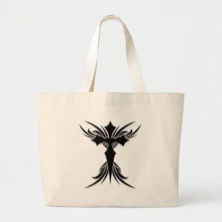 Black Winged Cross Canvas Bags