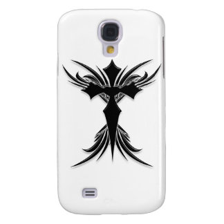 Black Winged Cross Galaxy S4 Cover