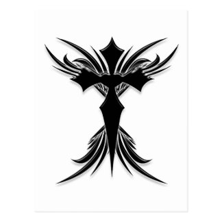 Black Winged Cross Post Cards