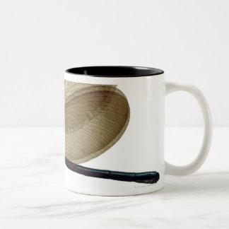 Black-winged damselfly Two-Tone coffee mug