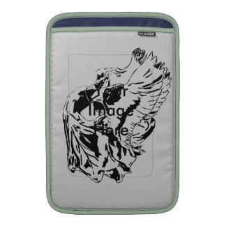 Black winged fairy MacBook air sleeves