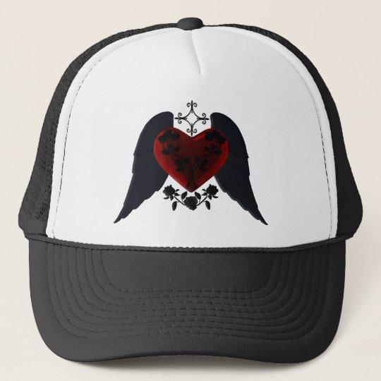 Black Winged Goth Heart Hat