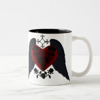 Black Winged Goth Heart Mug