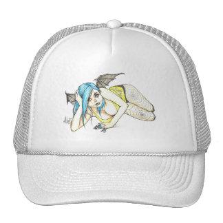 Black Winged Succubus Trucker Hat