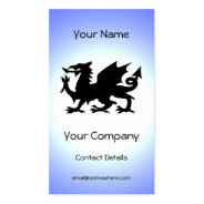Black Winged Wales Dragon Against Blue Sky Sun Double-Sided Standard Business Cards (Pack Of 100) at Zazzle
