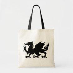 Black Winged Wales Dragon Canvas Crafts & Shopping Tote Bag at Zazzle