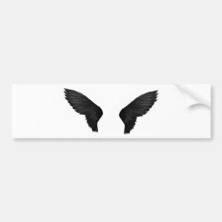 Black Wings Bumper Sticker