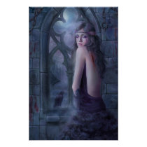 wing, gothic, dark, window, woman, cry, eyes, crow, raven, Cartaz/impressão com design gráfico personalizado
