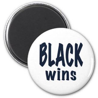 Black Wins, Obama wins 2 Inch Round Magnet