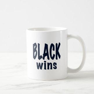 Black Wins, Obama wins Coffee Mug