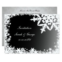 black winter wedding Invitation cards