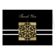 black winter wedding Thank You Card