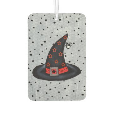 Halloween Themed Black Witch Hat Stars Cute Spider Halloween Air Freshener