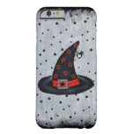 Black Witch Hat Stars Cute Spider Halloween Barely There iPhone 6 Case