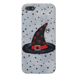 Black Witch Hat Stars Cute Spider Halloween iPhone 5 Cover