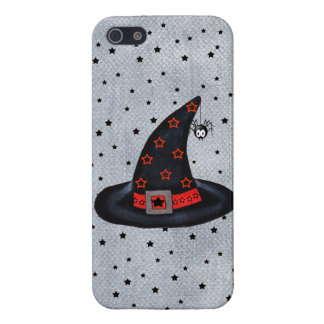Black Witch Hat Stars Cute Spider Halloween iPhone 5 Covers