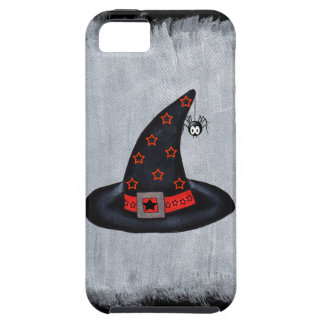 Black Witch Hat Stars Cute Spider Halloween iPhone SE/5/5s Case