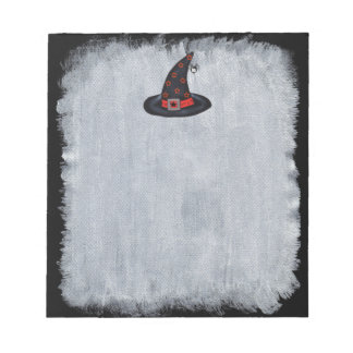 Black Witch Hat Stars Cute Spider Halloween Notepads