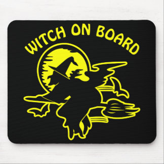 Black Witch On Board Mouse Pad