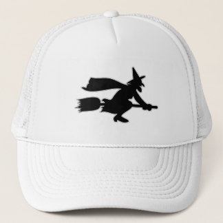 Black Witch spooky image Trucker Hat
