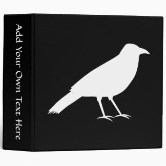 Black with a White Crow. 3 Ring Binder