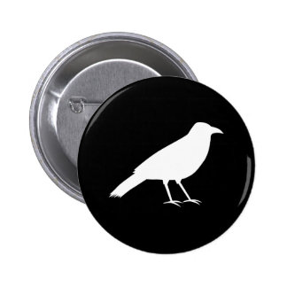 Black with a White Crow. Button