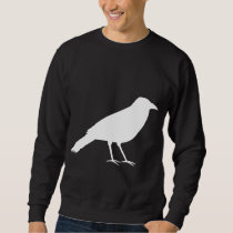 Black with a White Crow. Sweatshirt
