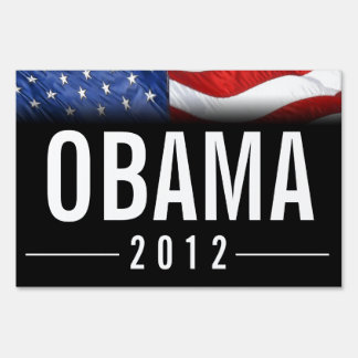 Black with big Obama 2012 Yard Sign