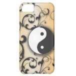 Black With Bronze Yin & Yang Cover For iPhone 5C