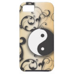 Black With Bronze Yin & Yang iPhone 5 Case