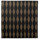 Black with Brown Patterned Diamonds Napkins