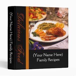 Black with Chicken Veggies Healthy Recipe Binder