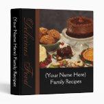 Black with Chocolate/Desserts Recipe Binder