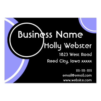 Black With Circles in Blue and Black Business Card