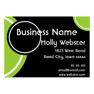 Black With Circles in Blue and Lime Business Card