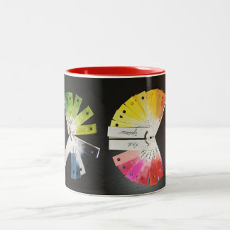 Black with color swatches 11 oz Two-Tone Mug