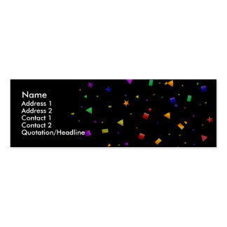 Black with Confetti Profile Cards Business Cards