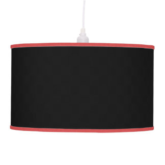 Black with customizable color trim hanging pendant lamp