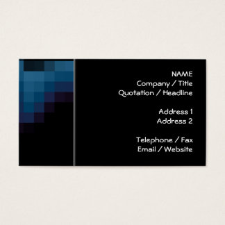 Black with Dark Blue and Purple Squares in a Wave. Business Card
