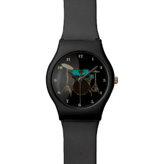 Black With Drums Music Watch