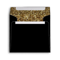 black with Gold glitter pattern Envelope